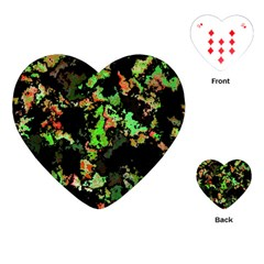Splatter Red Green Playing Cards (heart)