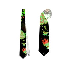Splatter Red Green Neckties (one Side)