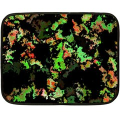 Splatter Red Green Fleece Blanket (Mini)