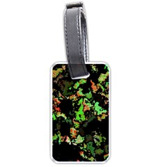 Splatter Red Green Luggage Tags (One Side)