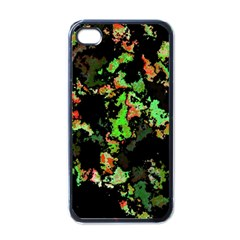 Splatter Red Green Apple iPhone 4 Case (Black)