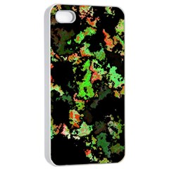 Splatter Red Green Apple iPhone 4/4s Seamless Case (White)