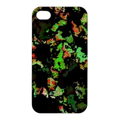 Splatter Red Green Apple iPhone 4/4S Hardshell Case