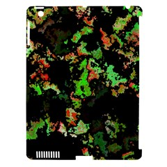 Splatter Red Green Apple iPad 3/4 Hardshell Case (Compatible with Smart Cover)