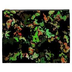 Splatter Red Green Cosmetic Bag (XXXL)