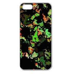 Splatter Red Green Apple Seamless iPhone 5 Case (Clear)