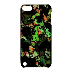 Splatter Red Green Apple iPod Touch 5 Hardshell Case with Stand