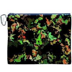 Splatter Red Green Canvas Cosmetic Bag (XXXL)