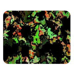 Splatter Red Green Double Sided Flano Blanket (Large)