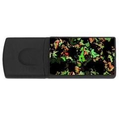 Splatter Red Green USB Flash Drive Rectangular (1 GB)