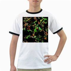Splatter Red Green Ringer T-Shirts