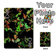 Splatter Red Green Playing Cards 54 Designs