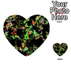 Splatter Red Green Playing Cards 54 (Heart)