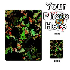 Splatter Red Green Multi Purpose Cards (rectangle)