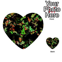 Splatter Red Green Multi-purpose Cards (Heart)