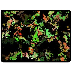 Splatter Red Green Fleece Blanket (large)