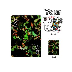 Splatter Red Green Playing Cards 54 (Mini)
