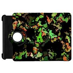 Splatter Red Green Kindle Fire HD Flip 360 Case
