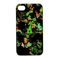 Splatter Red Green Apple iPhone 4/4S Hardshell Case with Stand