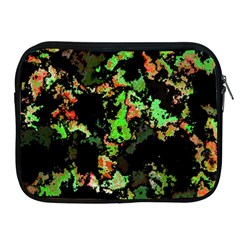 Splatter Red Green Apple iPad 2/3/4 Zipper Cases