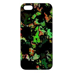 Splatter Red Green iPhone 5S Premium Hardshell Case