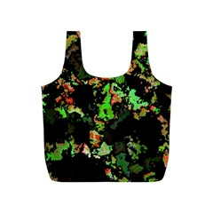 Splatter Red Green Full Print Recycle Bags (S)