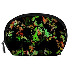 Splatter Red Green Accessory Pouches (Large)