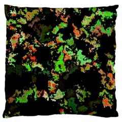 Splatter Red Green Large Flano Cushion Cases (One Side)