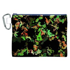 Splatter Red Green Canvas Cosmetic Bag (XXL)