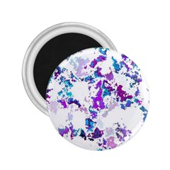 Splatter White Lilac 2.25  Magnets