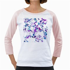Splatter White Lilac Girly Raglans