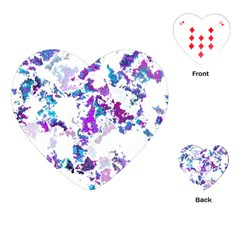 Splatter White Lilac Playing Cards (heart)