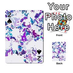 Splatter White Lilac Playing Cards 54 Designs