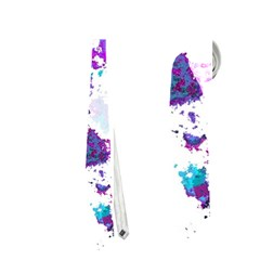 Splatter White Lilac Neckties (two Side)