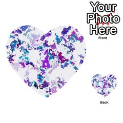 Splatter White Lilac Multi Purpose Cards (heart)