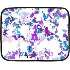 Splatter White Lilac Fleece Blanket (mini)