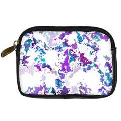 Splatter White Lilac Digital Camera Cases