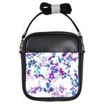 Splatter White Lilac Girls Sling Bags Front