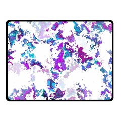 Splatter White Lilac Fleece Blanket (small)