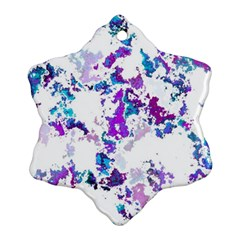 Splatter White Lilac Ornament (snowflake)