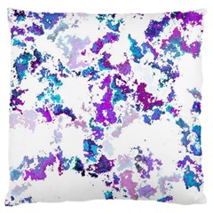Splatter White Lilac Large Cushion Cases (One Side)
