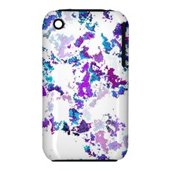 Splatter White Lilac Apple iPhone 3G/3GS Hardshell Case (PC+Silicone)