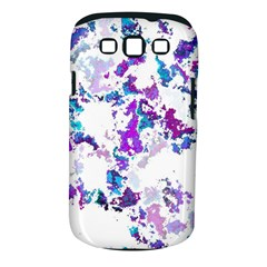Splatter White Lilac Samsung Galaxy S III Classic Hardshell Case (PC+Silicone)