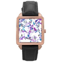 Splatter White Lilac Rose Gold Watches