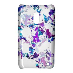 Splatter White Lilac Nokia Lumia 620