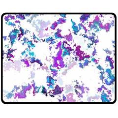 Splatter White Lilac Double Sided Fleece Blanket (Medium)