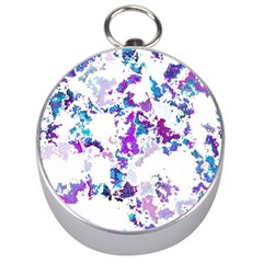 Splatter White Lilac Silver Compasses