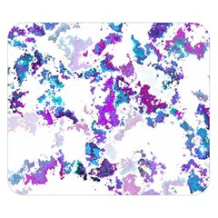 Splatter White Lilac Double Sided Flano Blanket (Small)