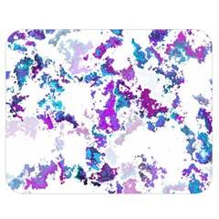 Splatter White Lilac Double Sided Flano Blanket (Medium)