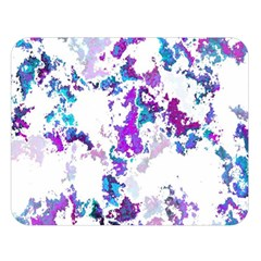 Splatter White Lilac Double Sided Flano Blanket (large)